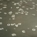 Dancing letters